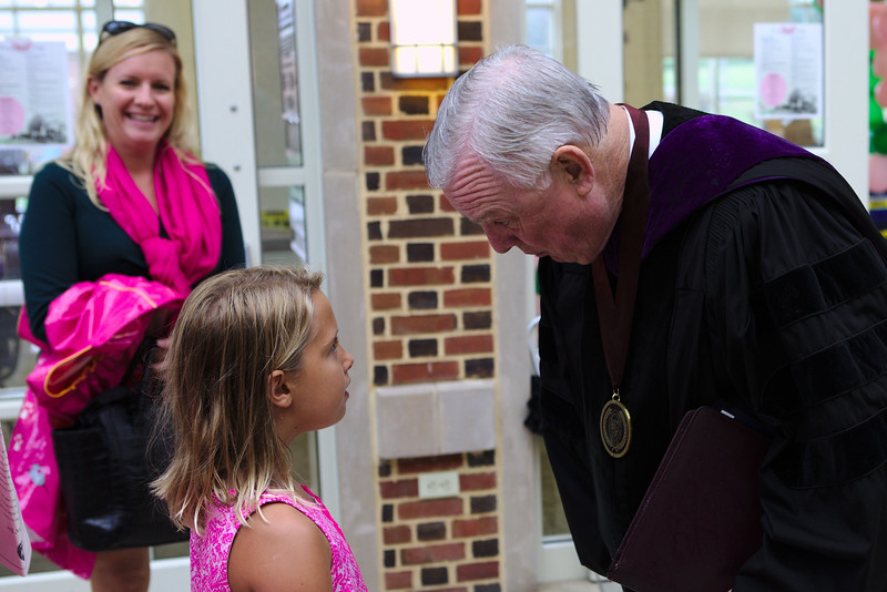 I just LOVE that President Stone was SO charming explaining all of the details of what each component of his medallion meant to this young lady. He had all the time in the world for her despite being the busiest and most sought after person in the building.