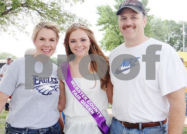 Melinda, Libby (Webster County Fair Queen), and Tim Anderlik