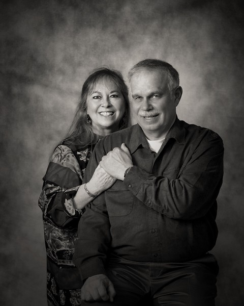 Paul and Bonnie Grey scale