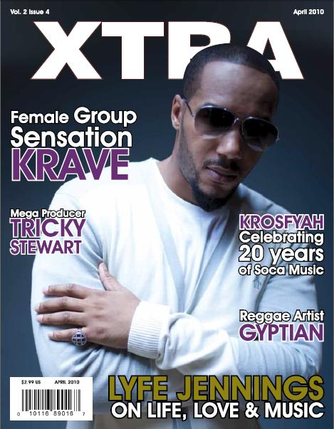 Singer Lyfe Jennings covers the April Issue of Xtra Magazine.