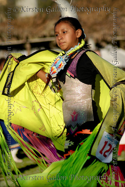 The younger girls competed in the fancy shawl dance.