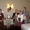 Belinda presenting award to BRIT authors