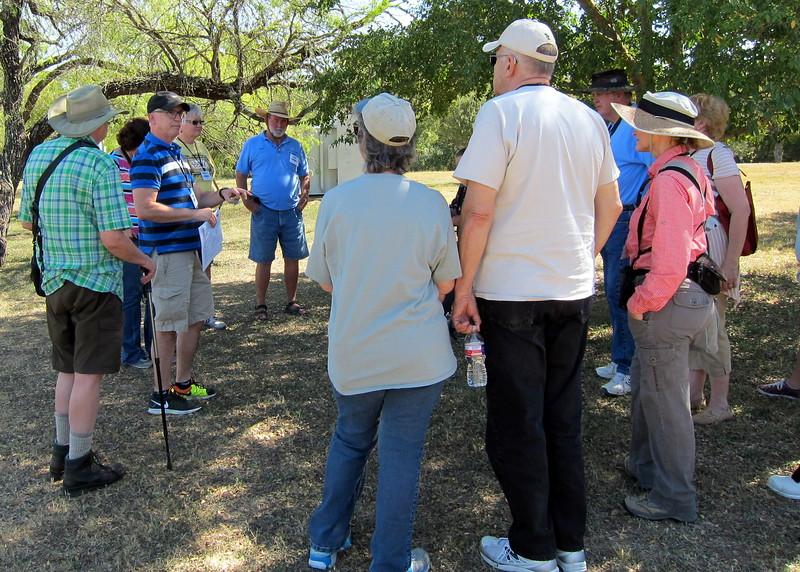Matt Turner leads a field trip at McKinney Falls State Park