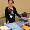 Pam Middleton tries to sell some t-shirts
