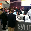 The synopsys booth was mobbed the whole time I was there. Grey walls are the little suites for demos.