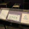UNIX programmer's guide (left), and the ubiquitous Kernighan & Ritchie C guide
