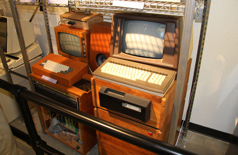 "Bad idea #423: ""Computers are so ugly -- they'll look much better if we mount them in a custom wooden cabinet."""