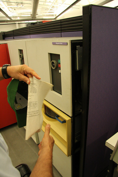 we discovered that the giant old IBM disc drives still had their documentation tucked inside...