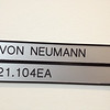 Von Neumann: In building 1, next to the large conference center room. The large rooms were not available to photograph because a group was using them.