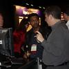 Fredrik Ivarsson, Neel Gopalan, and Scott Chase at the Custom Designer kiosk.
