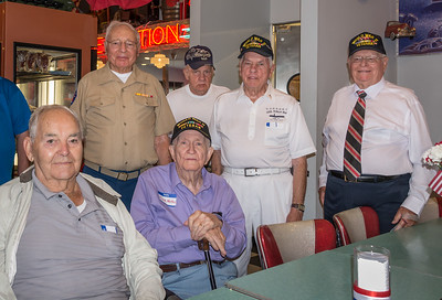 Veteran group, 1 of 2.  The space didn't lend itself to all the men crowding together for a single shot.