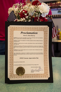 Each veteran received a personalized copy of the Mayor's proclamation