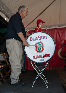 Fair Manager and TBDBITL Alumnus Dave Grimm helped cover Bass Drum
