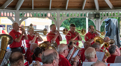 "Trombones found room for their feature on ""Stars and Stripes Forever"""