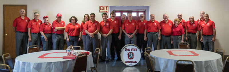The VFW put on a nice thank-you lunch.  These musicians are eyeing the buffet table behind the photographer!
