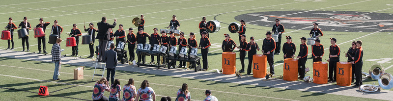 "Tubs, buckets and drums sported Heidelberg ""Hs"" for the show"