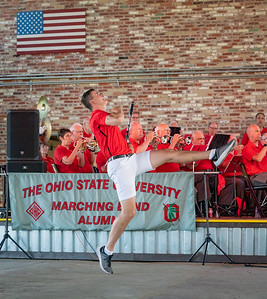 """Ramp Entrance and Buckeye Battle Cry"" - with OSUMB Head Drum Major Konner Barr"