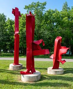 Glass plant remnants, now sculptures