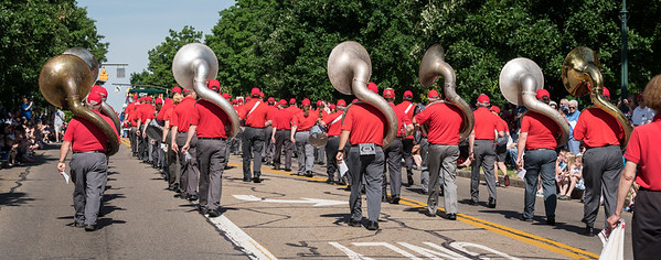 Seven Sousaphones in the parade may be a record