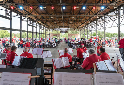 Shade, protection from rain, a big enough stage, a high ceiling for Drum Majors, plenty of audience seating, nearby parking...this venue checks a lot of Active Band boxes
