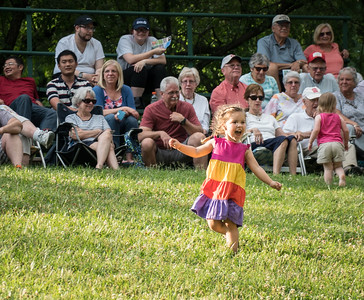 Randy said folks should put on their dancin' shoes, so this little girl obliged