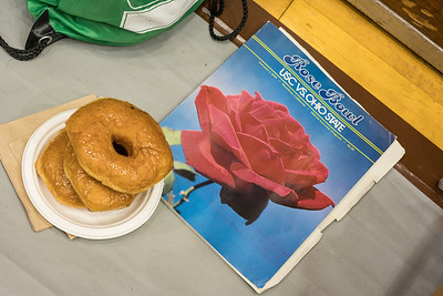 Rose Bowl program from 1980, doughnuts from today