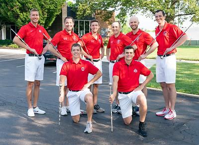 Eight Drum Majors!  2021's Head and Assistant Drum Majors plus six Alumni.