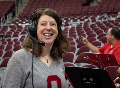Madame Conductor and Queen of the Headset