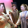 "Record-Eagle/Garret Leiva<br /> Lily, played by Hannah Stone, comforts Mary, played by Hannah Rickard, in a scene from the Traverse City West Senior High School production of ""The Secret Garden."""