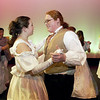 "Record-Eagle/Garret Leiva<br /> Archibald, played by Liam Bernhard, dances with Lily, played by Hannah Stone, in a scene from the Traverse City West Senior High School production of ""The Secret Garden."""