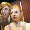 "Record-Eagle/Garret Leiva<br /> Neville, played by David Rice, tries to convince Mary, played by Hannah Rickard, to leave her uncle's house in a scene from the Traverse City West Senior High School production of ""The Secret Garden."""
