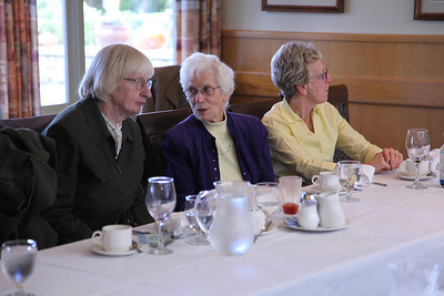 Elinor Powell and Hilda Walker exchanging medical anecdotes? while Emily Walker listens to another conversation