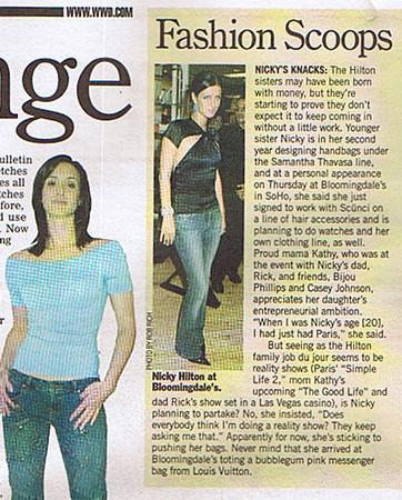 Nicky Hilton/ Womens Wear Daily