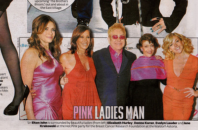 Elizabeth Hurley, Donna Karan, Elton John, Evelyn Lauder, Jane Krakowski