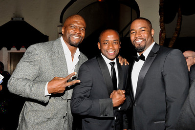 """The 42nd NAACP IMAGE AWARDS """"Affirming America's Promise""""SHOW  was held at the Shrine Auditorium March 4, 2011 Terry Crews,  Duley Hill and Michael Jai Parker Valerie Goodloe"""