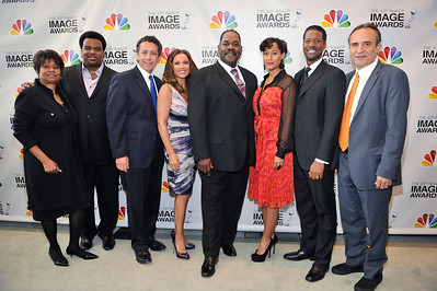 The Nominees for The 43rd NAACP IMAGE AWARDS were announced today during a liver press conference from the Paley Center for the media in Beverly Hills, Ca. Thursday January 19, 2012. Vanessa Williams, Tracee Ellis Ross, Corey Reynolds , Craig Robinson, with Executive Producer Vicangelo Bulluck, and Clayola brown along with Chrysler Executives General Holified and Alphons Lacobelli Valerie Goodloe