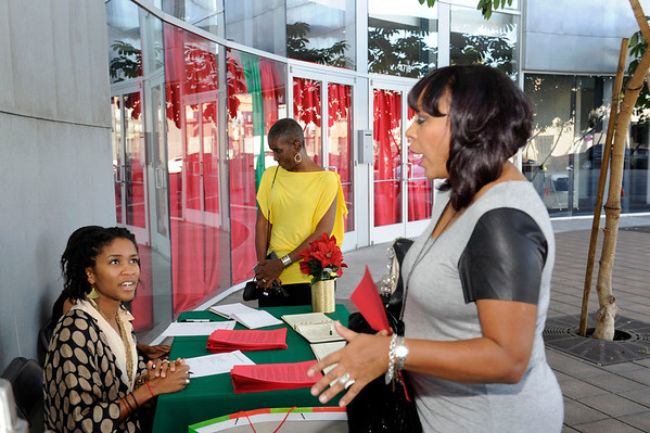 Los Angeles California: Kwaanza Foundation host the 11th Annual Spoken Word Event at the Nate Holden Performance Arts Center  on December 1, 2013 in Los Angeles California. Valerie Goodloe