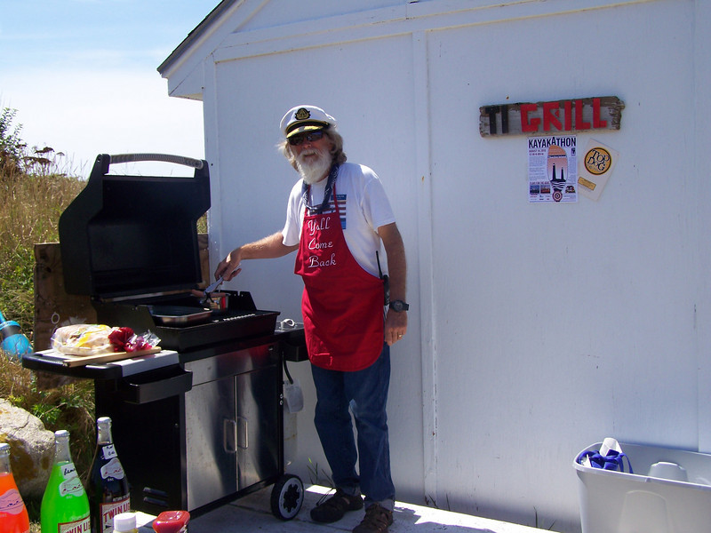 "Captain John sets up the ""TI Grill"""