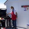 "Captain John sets up the ""TI Grill"""