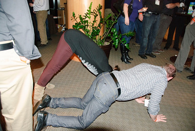 TLA reception - we used to drive skidders down Georgia, now we do downward facing dog at the icebreaker - what has happened to this organization??