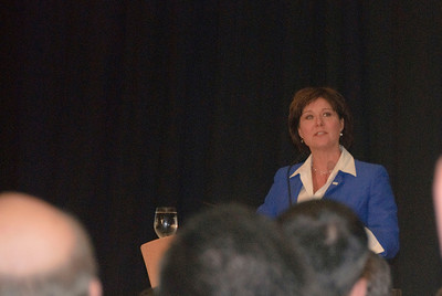 Premier Chrisy Clark speaking at the Premier's Lunch at the TLA 71st convention