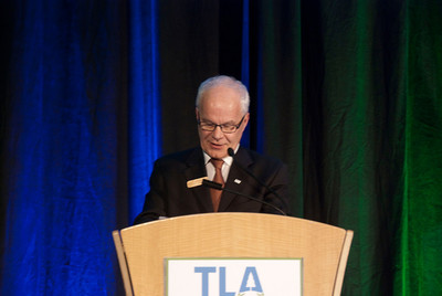 Bill Markvoort, TLA President, introduces the afternoon moderator.