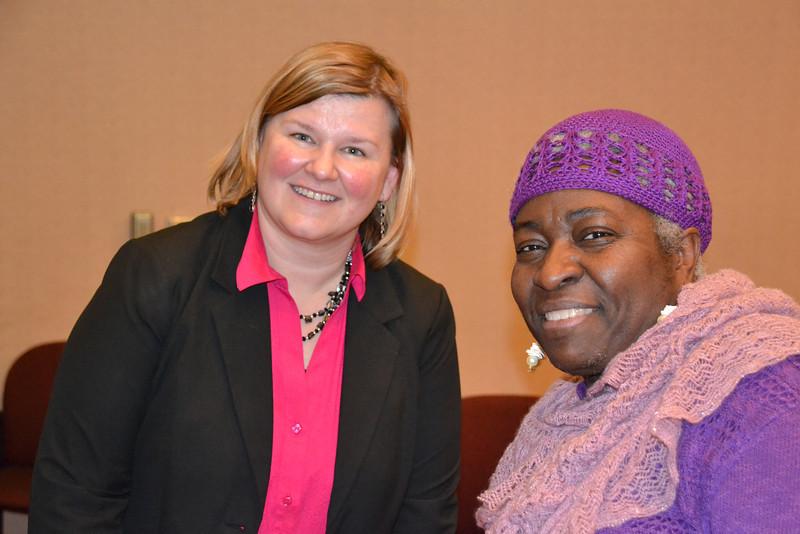Dr. Lynne Muhammad (right)