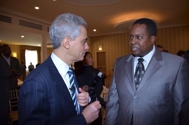 Warithudeen Mohammed II & Mayor Rahm Emanuel