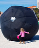 This little girl wasn`t scared of the big `ol eight ball.