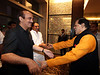 Park Hyatt Chairman T.Subbarami Reddy (MP) warmly receiving Union health minister Ghulam Nabi Azad and Chief Minister of Andhra Pradesh, Kiran Kumar Reddy at the inaugration of Park Hyatt at Banjarahills in Hyderabad on 29th April 2012...Pic Mohammed Jaffer-SnapsIndia