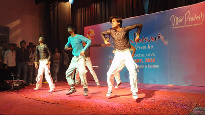 Dance performance and competition at the Taj Mohotsav which is an annual ten day event held at Agra, Uttar Pradesh, India.
