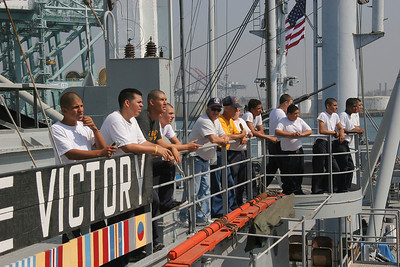 The Lane Victory's crew are mostly Sea Cadets, I think.