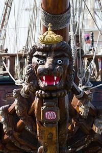 Figurehead on 1999 - Shtandart - Rigging Ship (Russia)