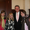 Rita, Lina, and Olga meet Butch Otter, governor of Idaho.